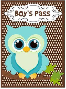 owl classroom theme | Classroom Passes OWL Theme - Nicole Bunt - TeachersPayTeachers.com
