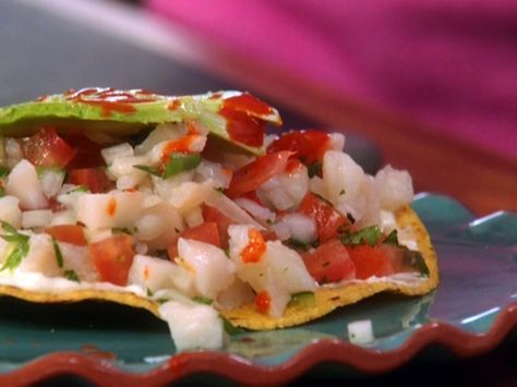 Tilapia Ceviche--I only had whiting, but I'm here to tell you--this is AWESOME.  Okay, it doesn't even need the tostada.  SO GOOD.  This, I'm making again and again.