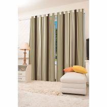 cortina para sala com blecaute estampada havan
