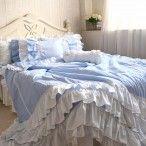 Blue Gingham Duvet Cover Set