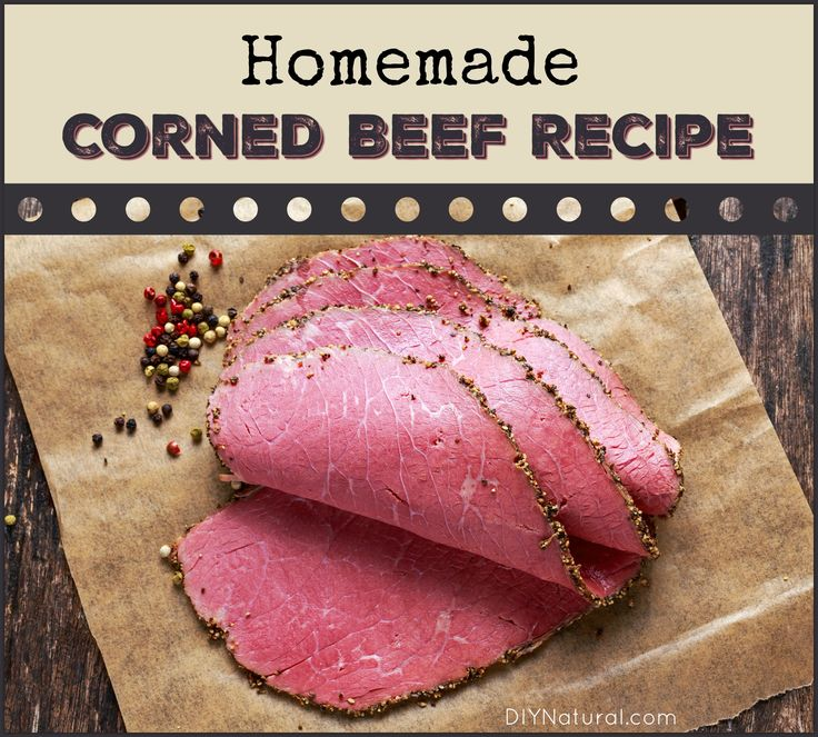 This homemade corned beef recipe allows you to make corned beef without nitrates and nitrites. Himalayan Salt adds nice color, flavor, and health benefits!