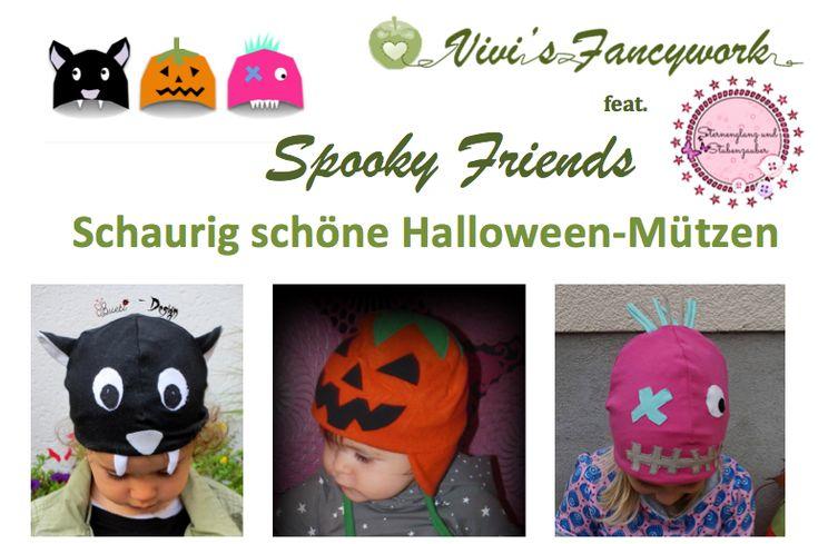 Halloweenmützen Spooky Friends - Website von Vivi's Fancywork