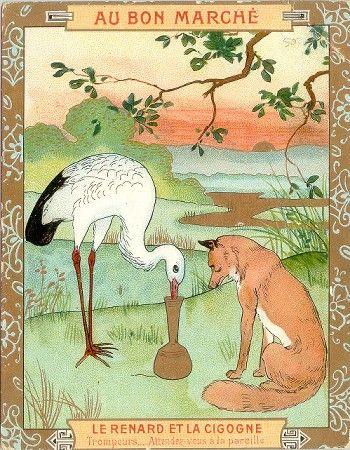 Le Renard et la Cigogne, image publicitaire