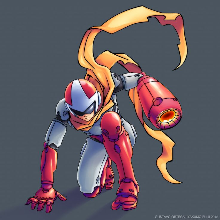 Blues_Protoman by YAKUMOFUJII