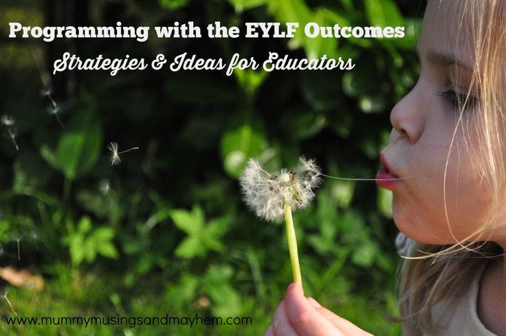 Activity planning strategies for early years educators using the EYLF outcomes.