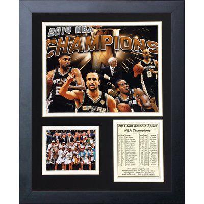 Legends Never Die 2014 San Antonio Spurs NBA Champions Framed Memorabilia