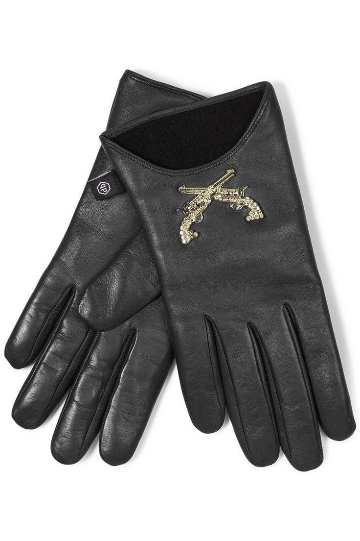 John lewis ladies black leather gloves - Philipp Plein Guns Gloves Black Make A Fashion Statement Wearing These Soft