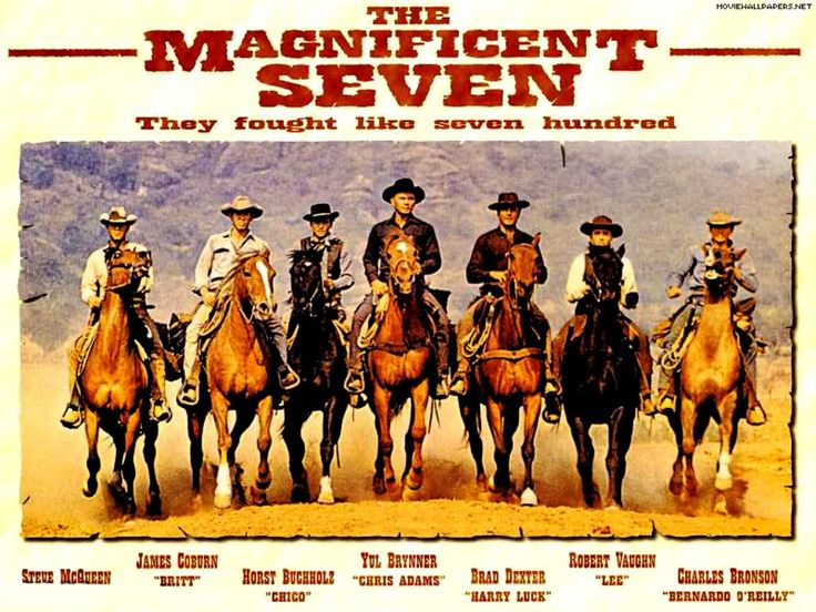 After fifty years, six of the members of the Magnificent Seven are dead, and the lone survivor Robert Vaughn (Lee) is an actor not a lawyer. Description from abnormaluse.com. I searched for this on bing.com/images