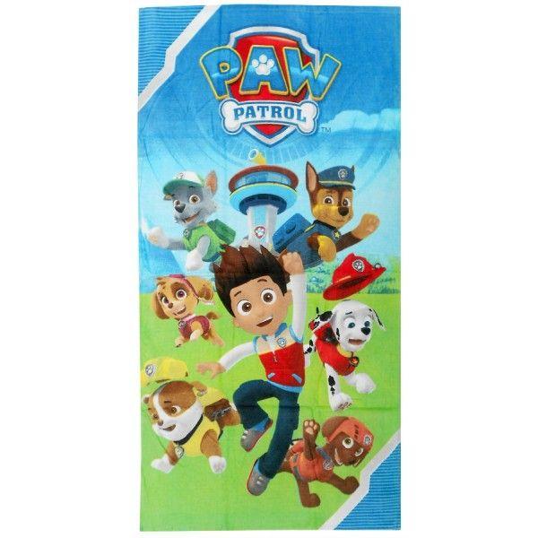 Paw Patrol badehåndklæde med Ryder og hans venner redningshundene