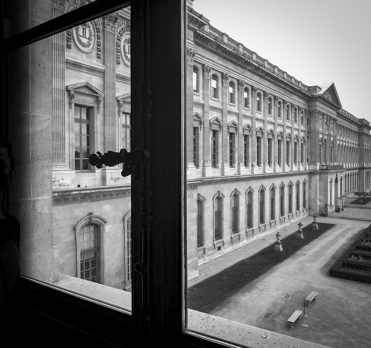 Windows of Louvre Museum Paris - France #blackandwhite #architecture