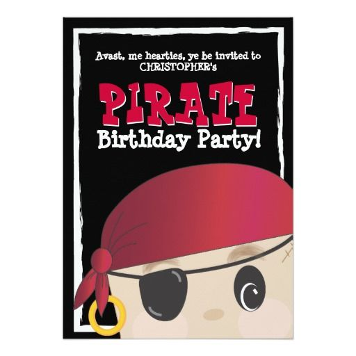 467 best pirate birthday party invitations images on pinterest friendly pirate birthday or halloween party 5x7 paper invitation card stopboris Images