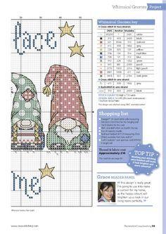#gnomes #chart2 #Cross Stitch gnome place like home 2/2