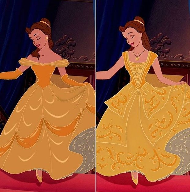"""Old vs new Found on Insta """"theycallmeobsessed"""" #Beautyandthebeast #Beauty and the beast #Belle"""