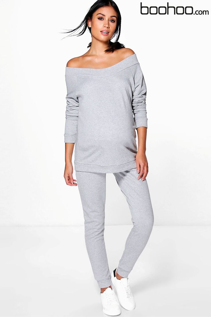 Buy Boohoo Maternity Bardot Top & Lounge Jogger Set from Next Ukraine