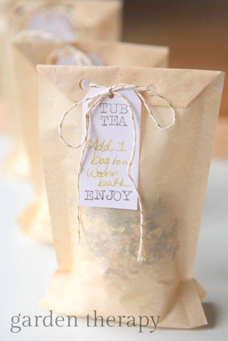 Tub Teas - add one to a warm bath and soak away your troubles (and it leaves no mess!)
