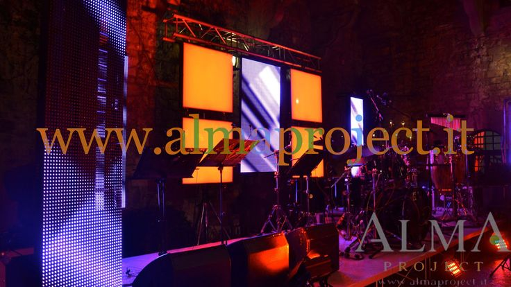 ALMA Project @ Vincigliata - Lighting - Courtyard - Mirror Ball - Led Wall - Moving Heads - Party - Stage