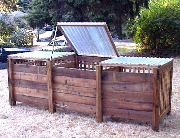 Compost Bin make this for food bin for dogs and chickens: Rai Beds Gardens, Gardeningoutdoor Decoration, Compost Bins Idea, Gardens Idea, Raised Beds Gardens, Bins Design, Gardens Design, Compost Idea, Gardens Growing