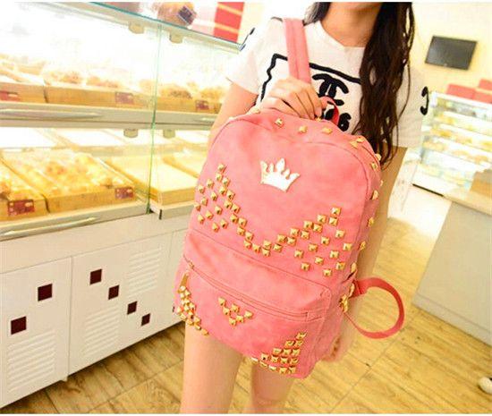 trendy leder schultaschen für mädchen im teenageralter billige coole rucksäcke-Rucksack