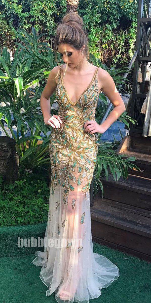 ade1e98ebe79 Sexy Seen Through Heavy Beaded Gorgeous Evening Long Prom Dress, BGP071 # promdress #promdresses #longpromdress #longpromdresses
