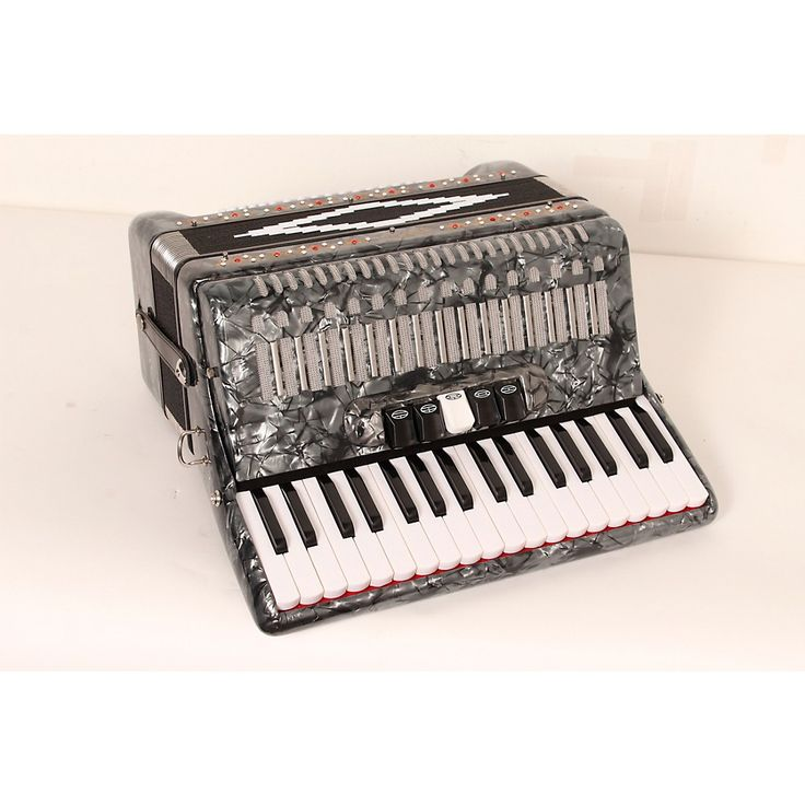 SofiaMari SM 3472 34 Piano 72 Bass Button Accordion Pearl Gray 888366009161