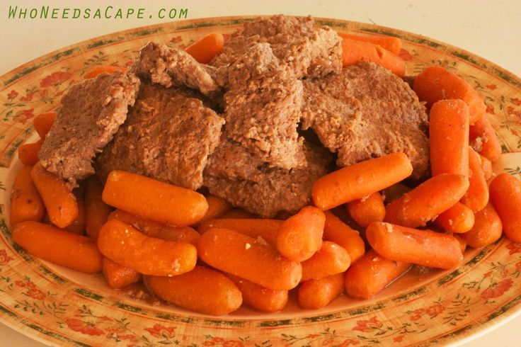 Crockpot Cubed Steak with Carrots - Who Needs A Cape?