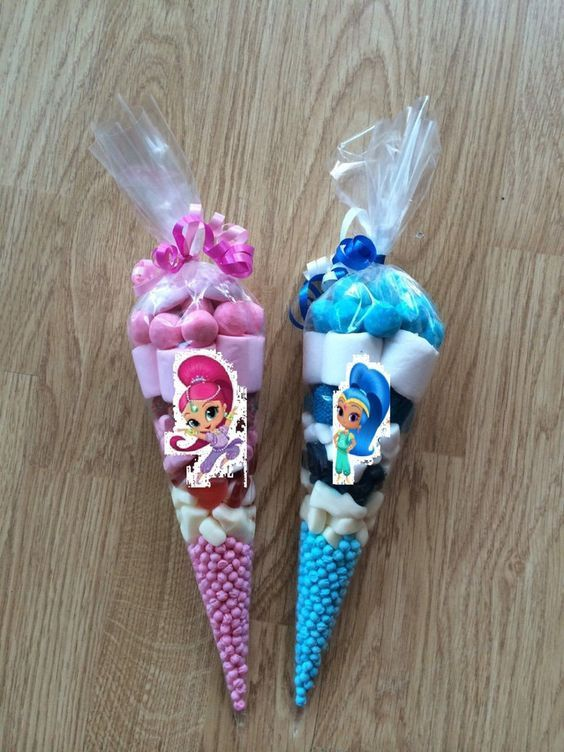 Shimmer And Shine Them Filled Candy Sweet Favor by AdorableLynn