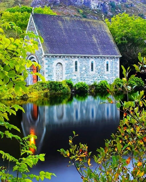 Church on Gougane Barra Lake, Ireland