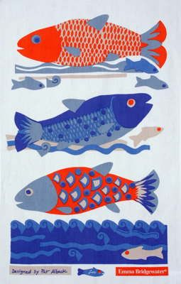 Fishes Tea Towel by Pat Albeck for Emma Bridgewater