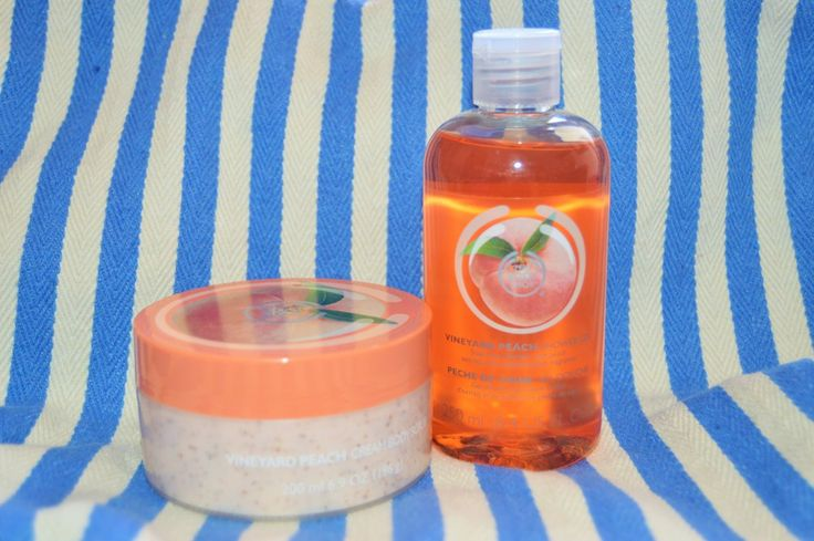 The Body Shop Vineyard Peach – shower gel and body scrub review