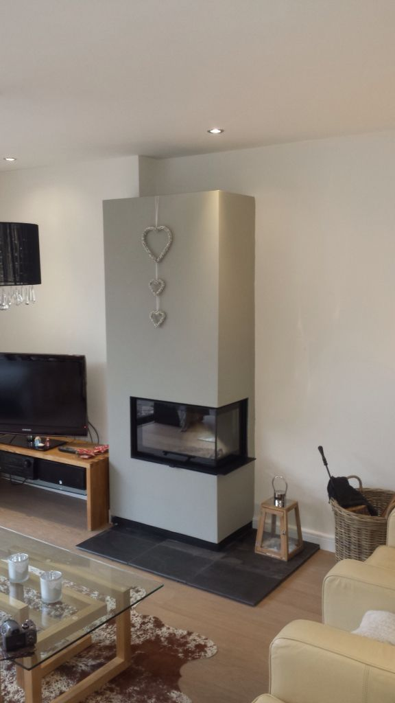 Hagley Stoves installed this Contura i40 stove and the customer's builder have created the surround. It's a fabulous finished project and works great on the Poujoulat chimney system