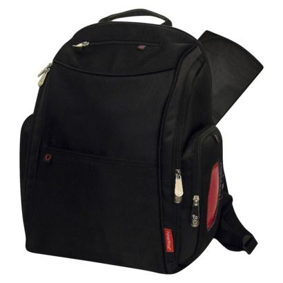 Fisher-Price FastFinder Dome Diaper Backpack - Black - LOVE the backpack diaper bag! Besides having lots of convenient outside storage pockets, it's also easy to carry.
