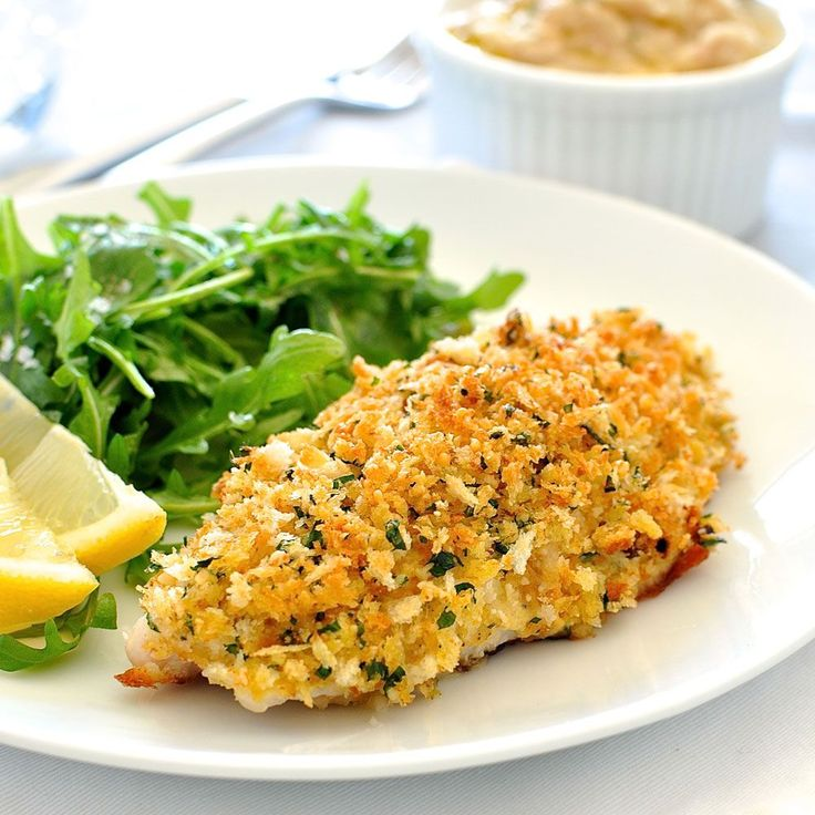 Healthy garlic and parmesan crumbed fish. Perfectly golden and crunchy crumb, perfectly cooked fish every time. On the table in just over 10 minutes.