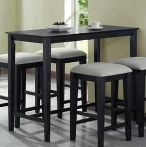 monarch specialties black grain 24x 48 counter height kitchen table. beautiful ideas. Home Design Ideas