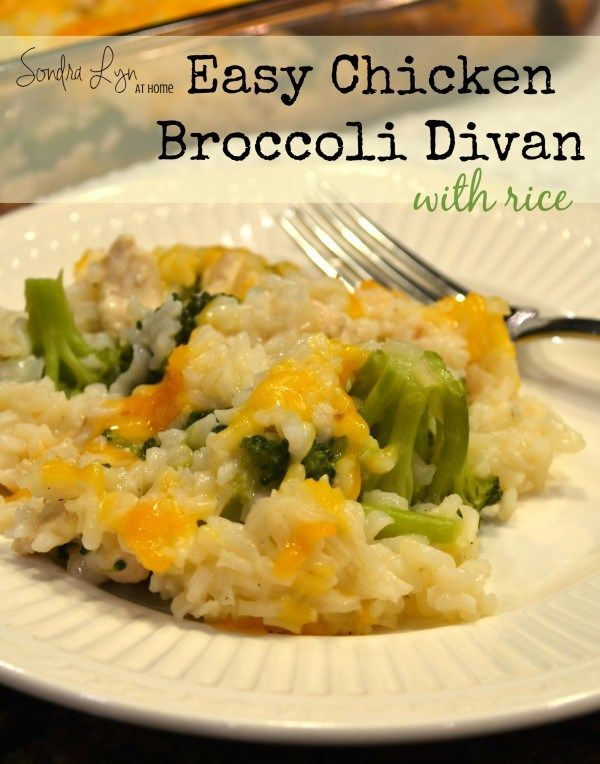Easy Chicken Broccoli Divan with Rice-Sondra Lyn at Home
