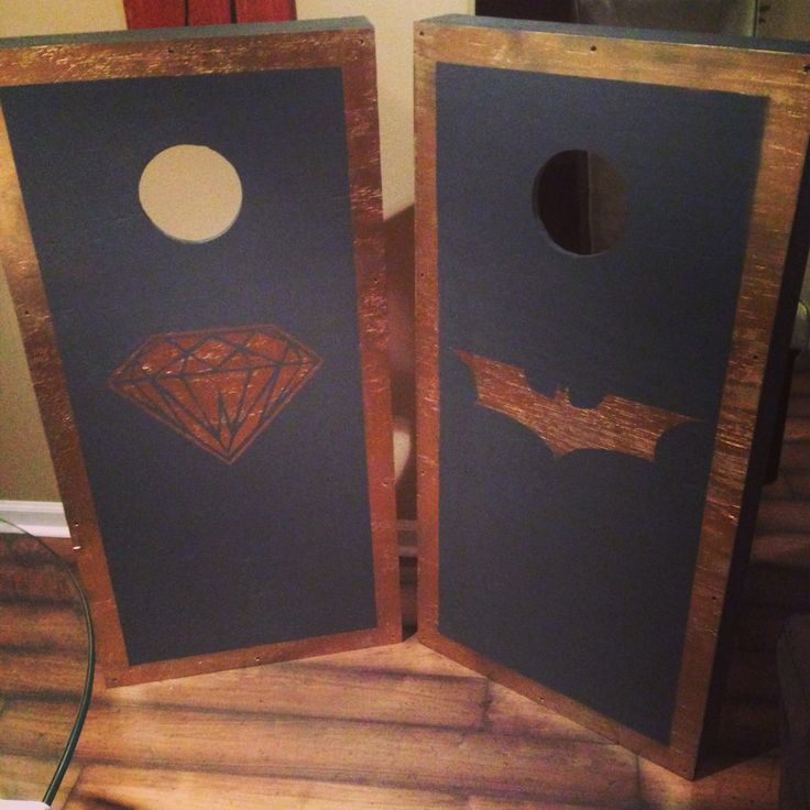 hand painted awesome corn hole boards batmannnnn - Cornhole Design Ideas