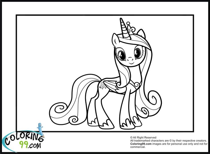 Mlp Printable Coloring Pages Princess Cadence Coloring