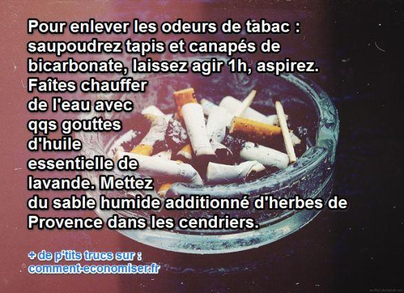 Le Truc Magique Pour Enlever lu0027Odeur de Cigarette dans une Pièce