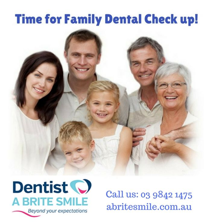 It's Monday! Time to have a family dental check up! Visit: abritesmile.com.au or call us at: 03 9842 1475. #dental #checkup