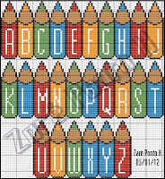 colored pencil alphabet~this would be so cute for a babies room with his/her name!