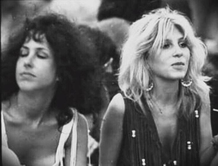 Grace Slick And Best Friend Sally Mann At Woodstock 1969
