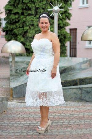 Wedding Dresses White Boho Dress Bile Kratke Splyvave Svatebni