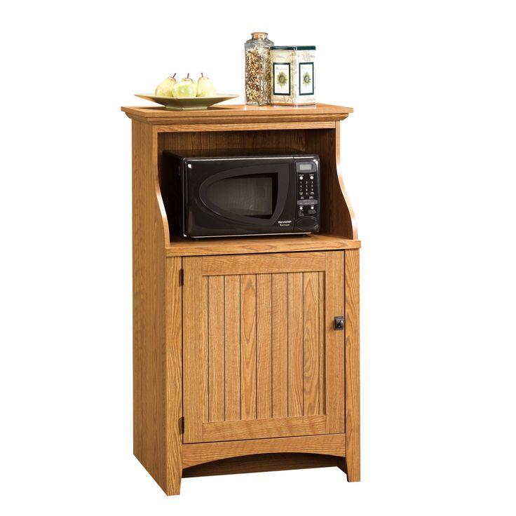 Office Kitchen Furniture: Sauder Summer Home Carolina Oak 3-Shelf Office Cabinet