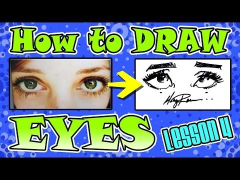 how to draw characature eyes