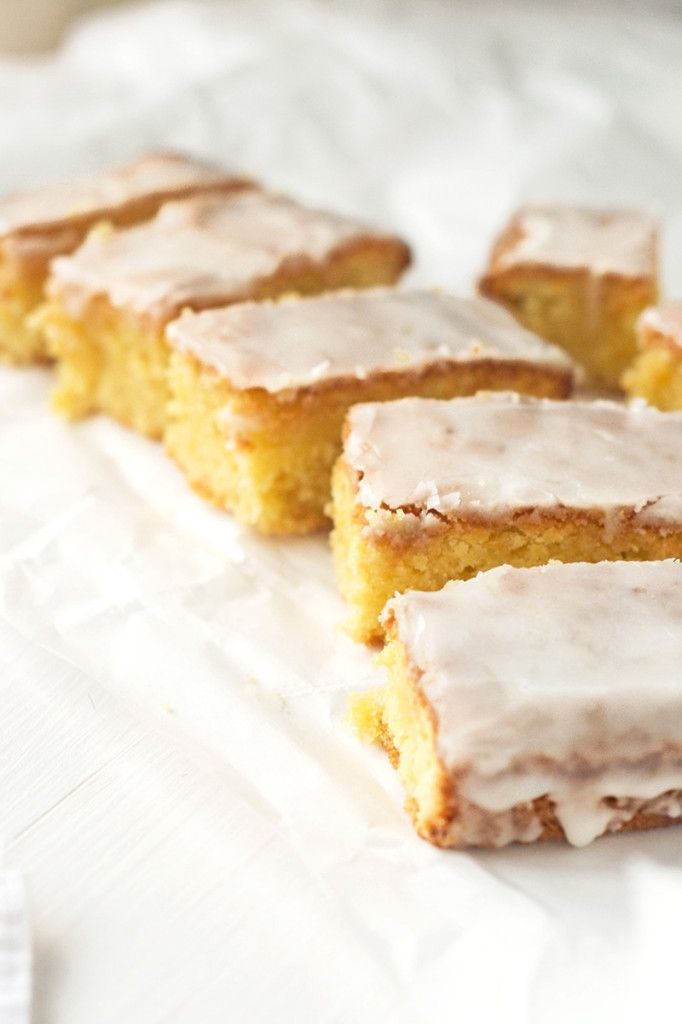 Lemon Drizzle Slices Gluten-free, dairy free... Mmm a cake I'll be able to eat on my wedding day!