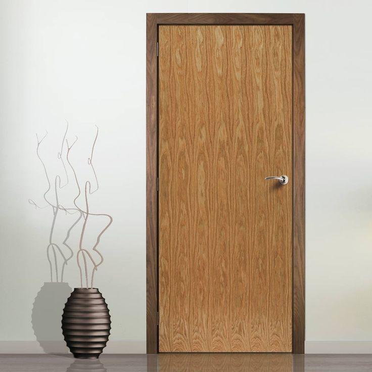 Jbk veneered oak flush door is pre finished flush doors for 1 panel inlaid oak veneer door