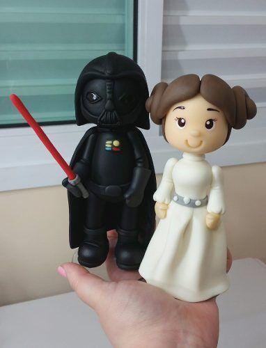 Bonecos Do Star Wars - Darth Vader E Princesa Leia - Geek - R$ 135,90