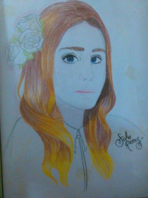 Drawing of Lana del Rey