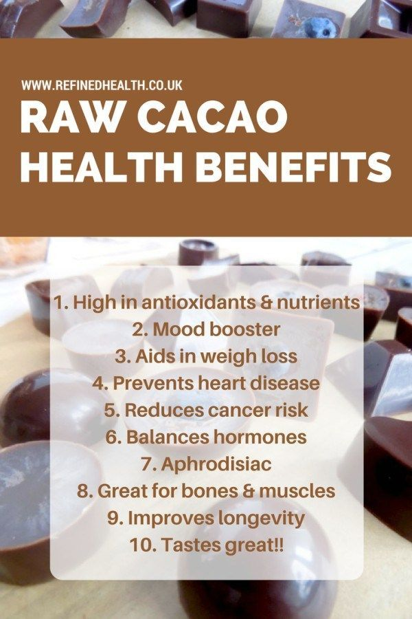 Raw Chocolate Recipe & Health Benefits of Raw Cacao    www.refinedhealth.co.uk