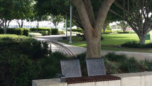 Northshore Hamilton, Brisbane. Shaded paths and seating