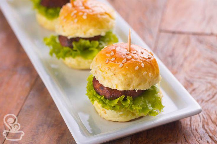 mini hambúrgueres de atum como molho teryaki caseiro! deliciosos e fofinhos!